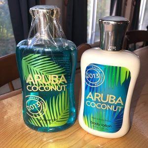 Bath Body Works Aruba Coconut Shower Gel & Lotion
